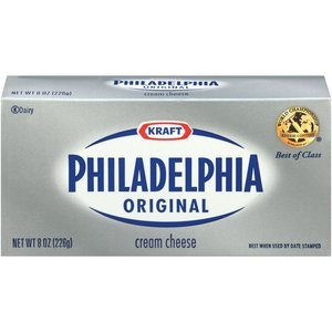 KRAFT PHILADELPHIA CREAM CHEESE BRICK ORIGINAL 8 OZ PACK OF 4