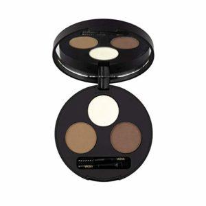 INIKA Brow Define Palette (5g), Vegan, Certified Organic, All Natural Make-up, Cocoa Butter, Shea Butter, Carnauba Wax, Halal, (Chestnut)