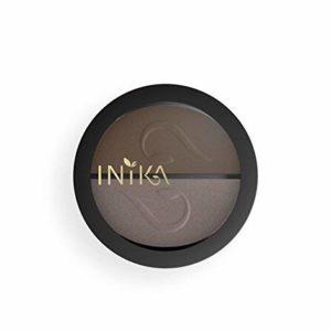 INIKA Pressed Mineral Eye Shadow Duos, All Natural Eye Make-up Formula, Long-Lasting, Vibrant Colors, Vegan, 3.9 g (Choc Coffee)