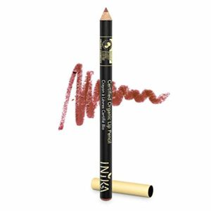 INIKA Certified Organic Lip Liner Pencil, All Natural Formula, Vegan, Rich, Creamy Formula, Halal,1.2g (Sugar Plum)