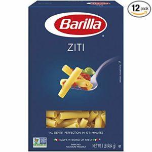 Barilla Pasta, Ziti, 16 Ounce (Pack of 12)
