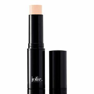 Jolie Eyebrow Perfecting Brightener & Highlighter, Creamy Self Sharpening Crayon Stick, Satin Finish (Matte Beige)