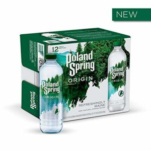 Poland Spring Origin, 100% Natural Spring Water, 900mL Recycled Plastic Bottle, 12 Pack