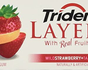 Trident Trident Layers Strawberry Tangy Citrus Gum (10Count), 1 lb