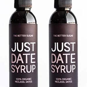 """Just Date Syrup - named """"The Perfect Natural Sweetener"""" by Bon Appetit - Organic, Low glycemic index, Vegan, Gluten-Free"""