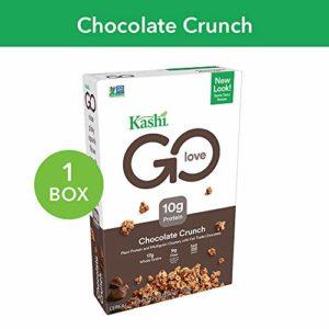 Kashi GO Chocolate Crunch Breakfast Cereal - Vegan | Non-GMO | 12.2 Oz Box