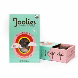 Joolies - Organic Medjool Dates, Pitted (11 Ounce) - 2 Pack, California Grown, Good Source of Fiber