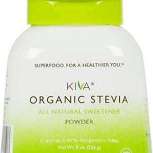 Kiva Organic Stevia Powder (Natural Sweetener - 398 SERVINGS) - Non-GMO, Vegan, Zero-Calories- (Sugar Free, NO AFTERTASTE and GROWN IN USA), 8-Ounce