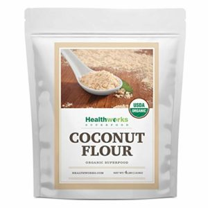 Healthworks Coconut Flour Unrefined Raw Organic (64 Ounces / 4 Pounds)  Certified Organic  Keto, Vegan & Non- GMO  Protein Based Whole Foods   Pancakes, Waffles, Bread & Other Baked Goods