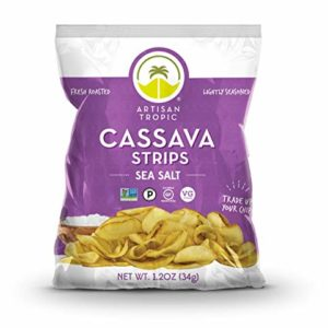 Artisan Tropic Cassava Strips - Your Tasty and Healthy Snack Alternative - Paleo, Gluten Free, Vegan, Non-GMO - Made With Sustainable Palm Oil (Sea Salt, 1.2 oz|16 pack)