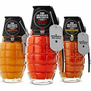The General's Hot Sauce Heat Seeker: Three 6 oz Bottles of Gourmet Hot Sauce Made With American-Grown Cayenne and Habanero Peppers. Dead Red/Danger Close/Shock & Awe
