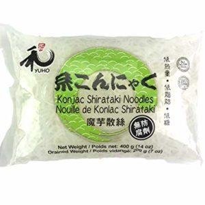 YUHO Konjac Shirataki Noodles Halal Gluten Free Zero Carbs Shirataki Pasta 0 Preservatives 400 g (14 oz)