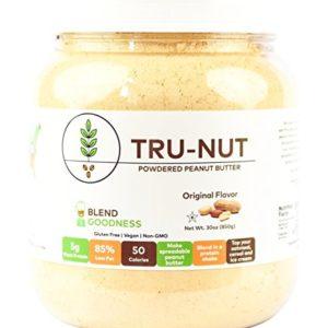 Tru-Nut Powdered Peanut Butter (71 Servings, 30 oz Jar) Good Source of Plant Protein - Gluten Free, Vegan, Non-GMO - Original Flavor