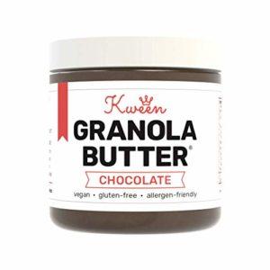 Kween Chocolate Granola Butter (1 Jar) | Nut-free, Vegan and Gluten-free Nutella Hazelnut Spread Alternative