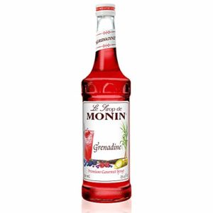 Monin - Grenadine Syrup, Delightfully Sweet, Natural Flavors, Great for Cocktails, Mocktails, Sodas, and Smoothies, Vegan, Non-GMO, Gluten-Free (750 Milliliters)