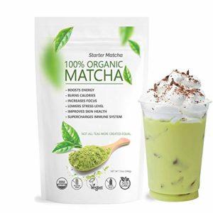 Starter Matcha Green Tea Powder 340g   USDA Organic   Vegan   GMO-Free   Matcha for Baking   Latte   Smoothie   Cookies   Ice Cream