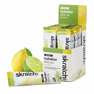 SKRATCH LABS Sport Hydration Drink Mix, Lemon Lime (20 pack single serving) - Natural, Electrolyte Powder Developed for Athletes and Sports Performance, Gluten Free, Vegan, Kosher