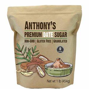 Anthony's Date Sugar, 1lb, Gluten Free, Non GMO, Vegan, Granulated
