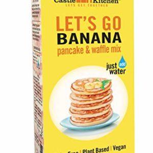 Castle Kitchen Banana Pancake Mix - Dairy-Free, Vegan, Plant Based, Non-GMO Project Verified, Kosher, Complete Pancake & Waffle Mix - Just Add Water - 16 oz