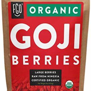 Organic Goji Berries - 16oz Resealable Bag - 100% Raw From Ningxia - by FGO