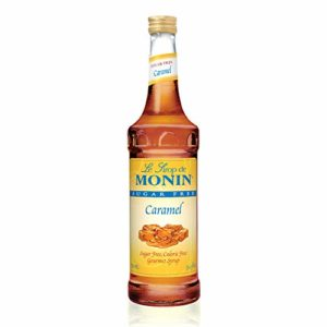 Monin - Sugar Free Caramel Syrup, Mild and Sweet, Great for Coffee and Desserts, Gluten-Free, Vegan, Non-GMO (750 Milliliters)