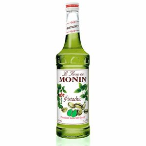 Monin - Pistachio Syrup, Rich and Roasted Pistachio Flavor, Great for Lattes, Mochas, and Dessert Cocktails, Vegan, Non-GMO, Gluten-Free (750 ml)