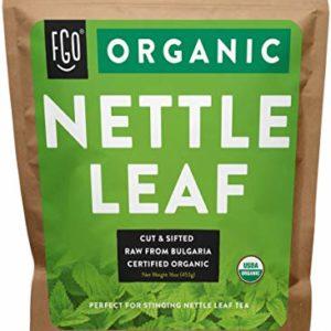 Organic Nettle Leaf - Herbal Tea (200+ Cups) - Cut & Sifted - 16oz Resealable Bag - 100% Raw From Bulgaria - by Feel Good Organics