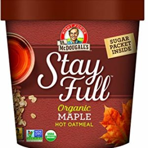 Dr. McDougall's Right Foods Stay Full Organic Maple Hot Cereal, 2.5 Ounce Cups (Pack of 6) Vegan, Gluten-Free, USDA Organic, Whole Grain, Non-GMO; Paper Cups From Certified Sustainably-Managed Forests