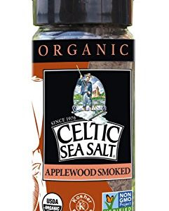 Gourmet Celtic Sea Salt Organic Applewood Smoked Seasoning Salt - Versatile Smoked Seasoning with a Bold, Distinctive Flavor, Hand Crafted and Nutritious, 3 Ounces