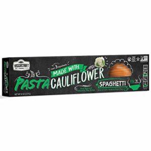 Veggiecraft Cauliflower Spaghetti Simple Ingredient Pasta | Vegan, Gluten-Free, Non-GMO | Healthy, Natural Plant Based | Source of Potassium, Fiber and Iron | 14g Protein | 4 pack