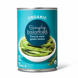 Simply Balanced Organic French-Style Green Beans, 14.5 OZ (One Pack)