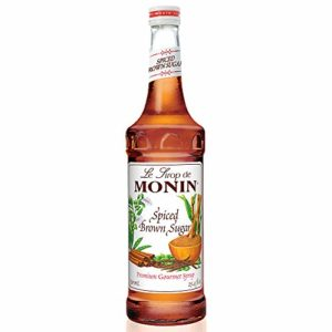 Monin - Spiced Brown Sugar Syrup, Sweet With Hints of Cinnamon, Natural Flavors, Great for Coffee, Desserts, Ciders, and Cocktails, Vegan, Non-GMO, Gluten-Free (750 Milliliters)