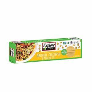 Explore Cuisine Organic Chickpea Spaghetti - 8 oz - High in Plant Based Protein, Gluten Free Pasta, Easy to Make - USDA Certified Organic, Vegan, Kosher, Non GMO - 4 Servings