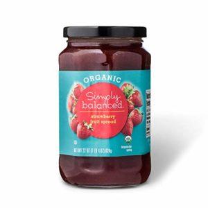 Simply Balanced Organic Strawberry Fruit Spread, 22 OZ (One Pack)