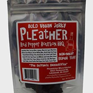 Red Pepper Bourbon BBQ Vegan Jerky - Bold BBQ Flavor - Made with Real Bourbon - Hand Made
