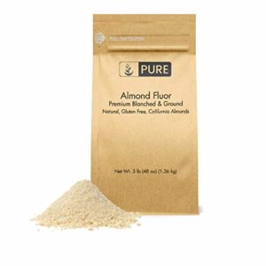 Almond Flour (3 lb. (48 oz.)) by Pure Organic Ingredients, Paleo & Keto Friendly, Gluten-Free, Vegan, Product of California, Blanched Almonds