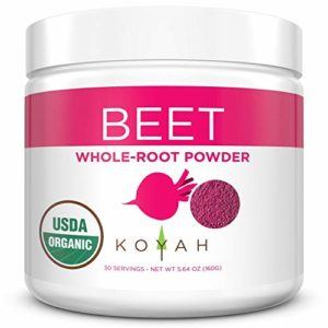 KOYAH - Organic Freeze-dried Beet Powder (1 Scoop = 1/2 Beet): 30 Servings, USA Grown, Whole-Root Powder