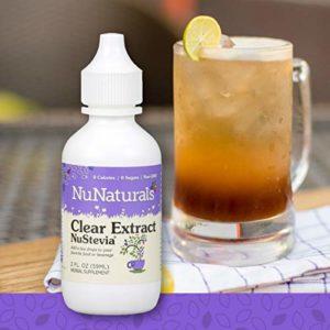 NuNaturals NuStevia Clear Extract Stevia Natural Liquid Sweetener, Sugar-Free, 295 Servings (2 oz)