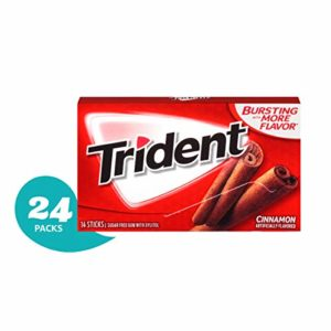 Trident Cinnamon Sugar Free Gum - 24 Packs (336 Pieces Total)