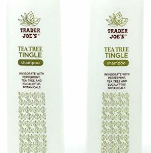 Trader Joe's Tea Tree Tingle Shampoo with Peppermint, Tea Tree and Eucalyptus Botanicals (Pack of 2)