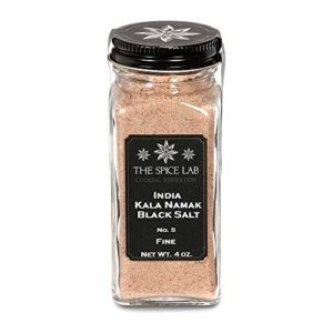 The Spice Lab Himalayan Kala Namak Mineral Black Crystal Indian Salt - Fine - French Jar