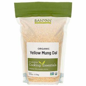 Banyan Botanicals Organic Yellow Mung Dal - Certified USDA Organic - Non GMO - Vegan - GF - Ayurvedic Food for Kitchari & Cleansing, 1.65 lbs