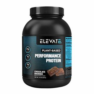 Elevate Nutrition Plant Based Vegan Performance Protein, 26 Servings, Low Carb, NO Sugar, High Protein, High BCAAs, High Glutamine, GMO-Free, Dairy and Soy Free, NO Artificial (Chocolate Brownie)