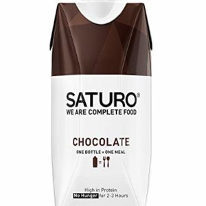 Saturo Meal Replacement Drinks, Chocolate, Vegan Nutritional Drink with Protein, Weight Gain, 11.1 oz Bottles, 8 Pack (Packaging May Vary)