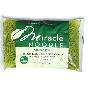 Miracle Noodle Spinach Shirataki Noodles, 7 oz (Pack of 6), Angel Hair Pasta, Low Carbs, Low Calorie, Gluten Free, Soy Free, Keto Friendly