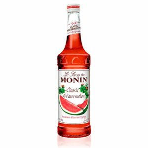 Monin - Classic Watermelon Syrup, Juicy and Sweet, Great for Sodas and Lemonades, Gluten-Free, Vegan, Non-GMO (750 Milliliters)
