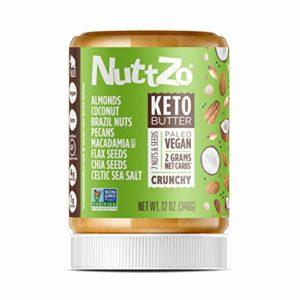 NuttZo Keto Butter, Crunchy, 12 Ounce