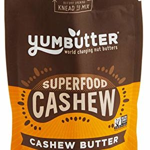 Superfood Cashew Butter by Yumbutter, Gluten Free, Vegan, Non GMO, 6.2oz Pouch