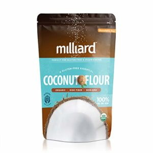 Milliard Organic Coconut Flour (5 lb) Batch Tested Gluten-Free, Non-GMO and Vegan 100% Pure High Fiber