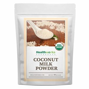 Healthworks Coconut Milk Powder (16 Ounce / 1 Pound) |Certified Organic |All-Natural, Creamy, Dairy-Free, Soy-Free, Paleo Diet, Vegan & Non-GMO